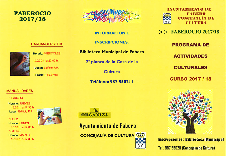 Fabero organiza multitud de actividades con FABEROCIO 2017/2018 2